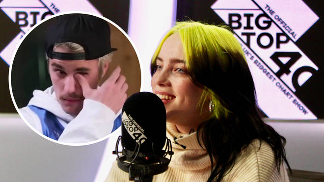 Billie Eilish cried watching Justin Bieber's message