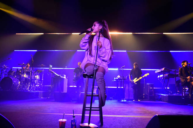 Ariana Grande performs at The Sweetener Sessions