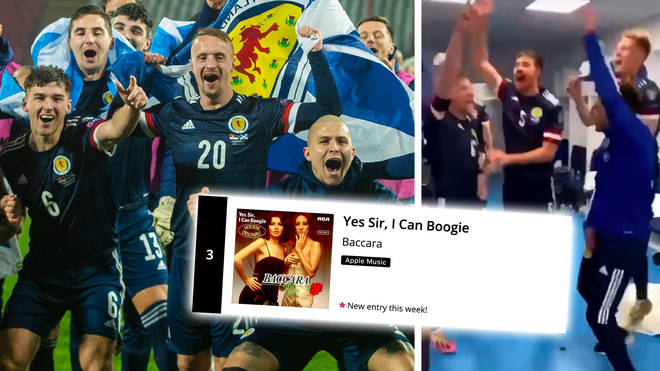 'Yes Sir, I Can Boogie' reaches Number 3 after Scotland's win