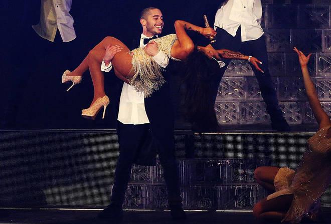 Ricky Alvarez and Ariana Grande