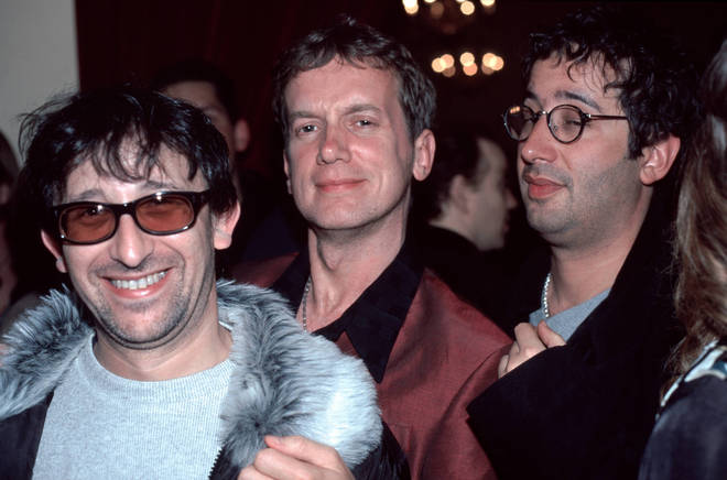 Photo of Frank SKINNER and LIGHTNING SEEDS and Ian BROUDIE and David BADDIEL