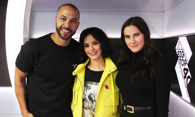 Cheryl with Marvin Humes and Kat Shoob