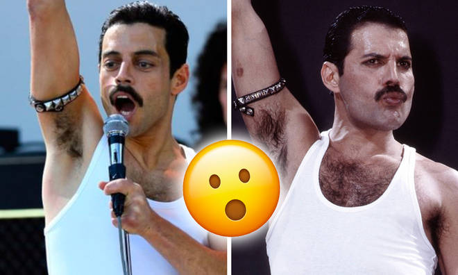 Rami Malek and Freddie Mercury