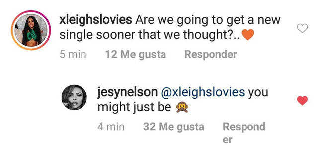 Jesy Nelson replies to fans on Instagram