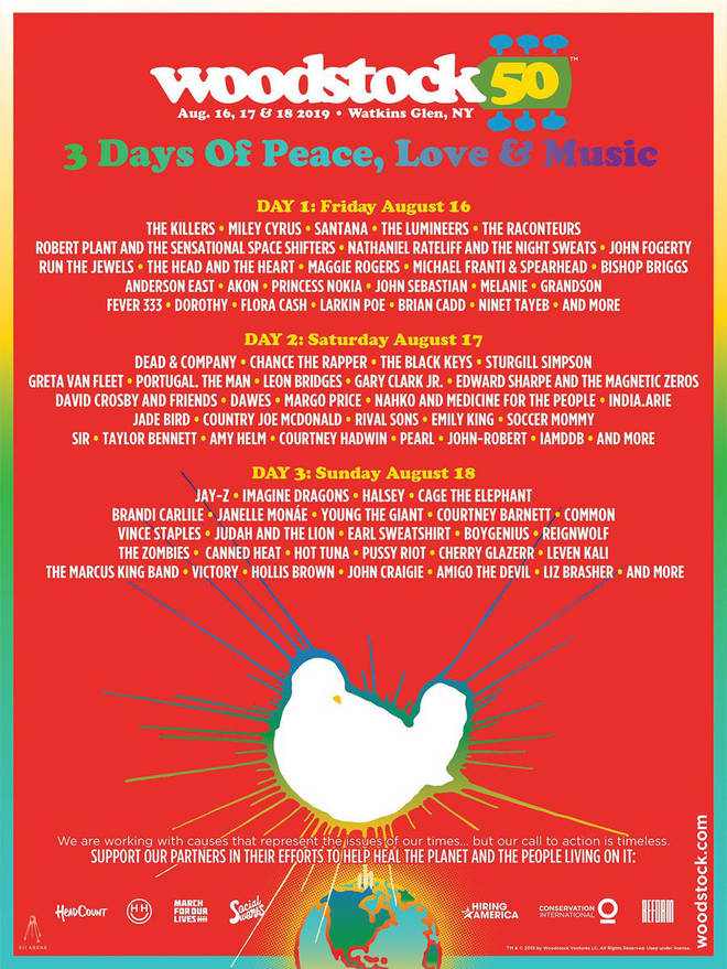 Woodstock 50 official poster unveiled