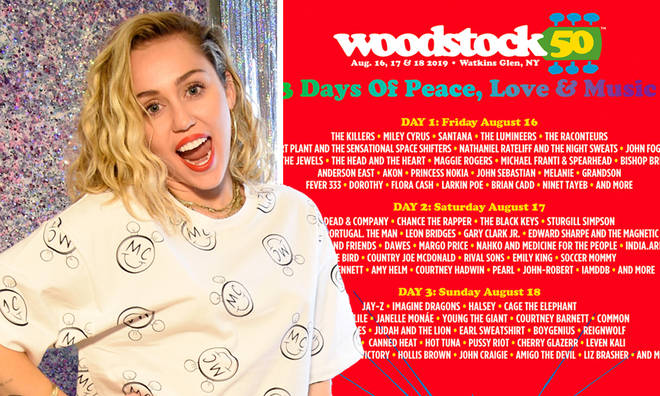 Woodstock 50 lineup announced, including Miley Cyrus