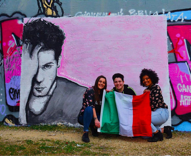Shawn Mendes mural unveiled in Turin, Italy