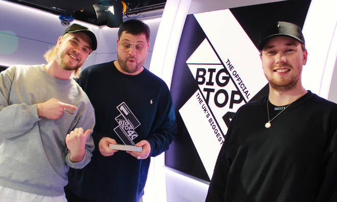 Goodboys with their Official Big Top 40 Number 1 trophy