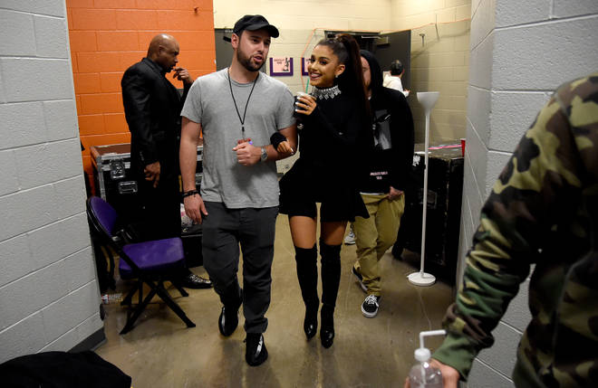 Ariana Grande with her manager Scooter Braun