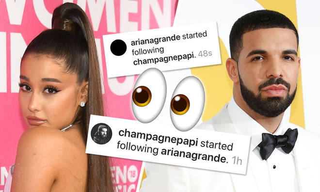 Ariana Grande and Drake follow each other on Instagram