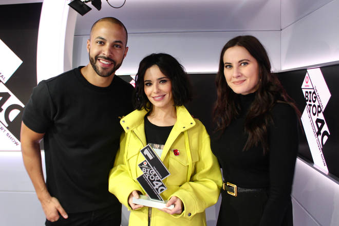 Cheryl with The Official Big Top 40 Number 1 trophy